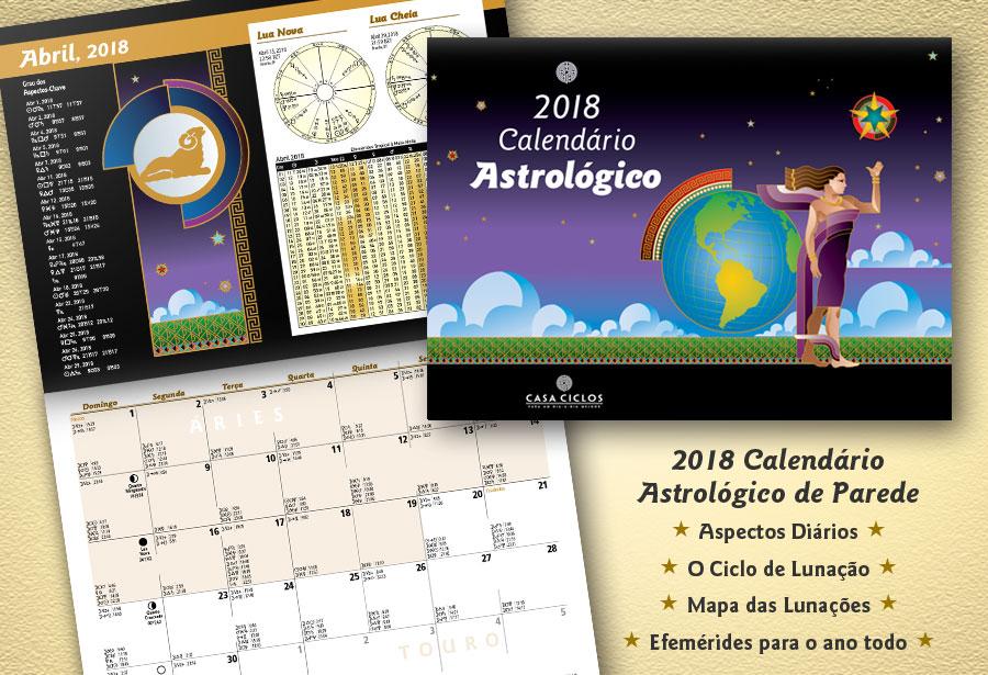 2018 Calendário Astrológico
